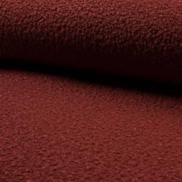 Tissu lainage bouclé brique