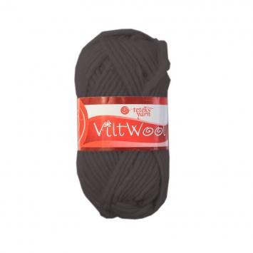 Pelote 100% laine gris foncé