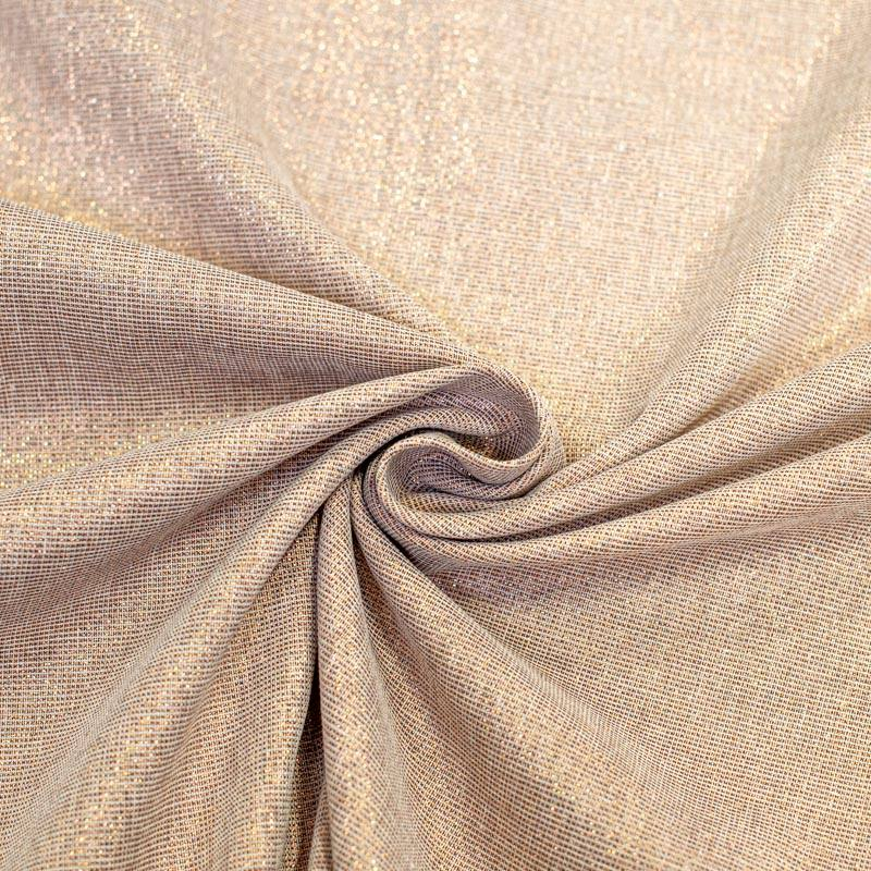Tissu aspect lin pailleté cuivre grande largeur