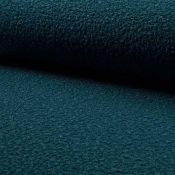 Tissu lainage bouclé bleu pétrole