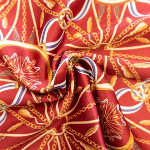 Foulard chaîne et ruban - Fond tomette