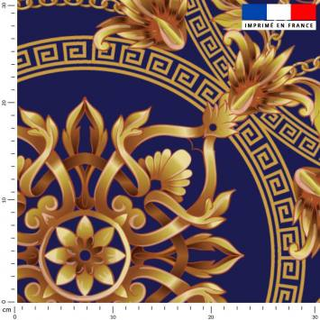 Foulard doré - Fond violet