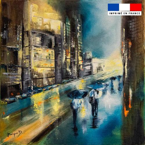 Coupon 45x45 cm motif Nuit blafarde - Création Monique.D