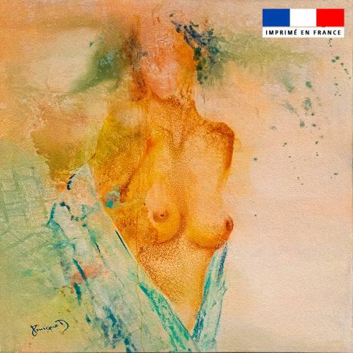Coupon 45x45 cm motif Troublant émoi - Création Monique.D
