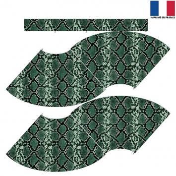 Kit Jupe Courte - Peau de serpent verte