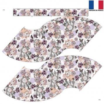Kit Jupe Courte - Attrape-rêve et papillon violet et vert