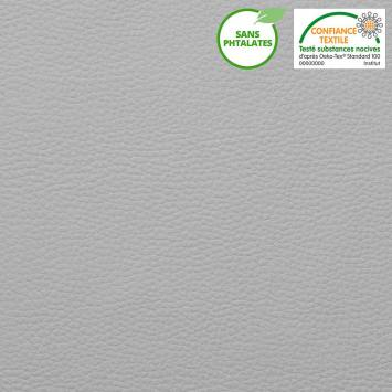 coupon - Coupon 45cm - Simili cuir uni gris clair