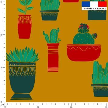 Cactus - Fond moutarde