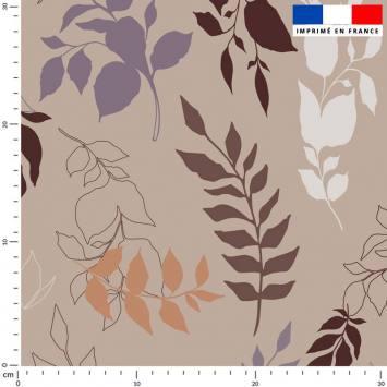 Branches et feuilles - Fond marron