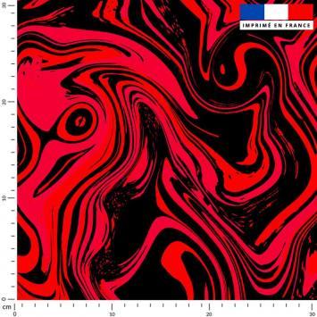 Fluide art rouge - Fond noir