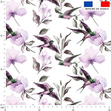 Hirondelle violette - Fond écru