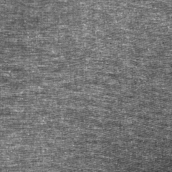 Tissu lin et viscose uni noir