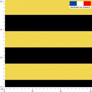Rayé jaune et noir