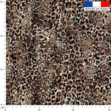 Léopard vintage - Fond marron