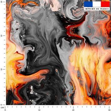 Magma jaune et gris effet peinture