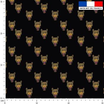 Tigre - Fond noir