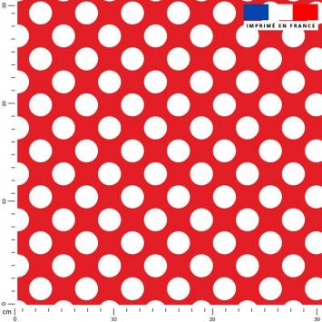 Pois blanc - Fond rouge