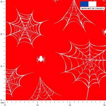 Super-héros araignée - Fond rouge