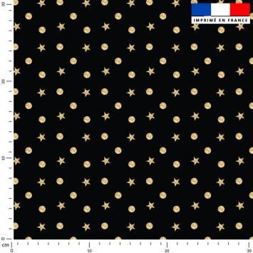 Rond et étoile dorés - Fond noir