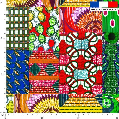 Wax patchwork multicolore
