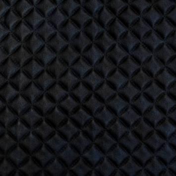 Simili cuir bleu marbré noir capitonné