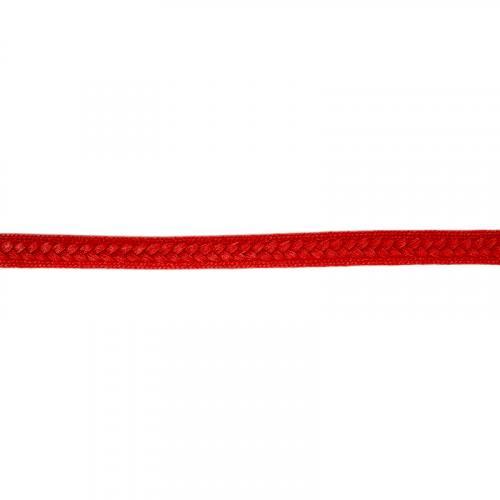 Galon tressé 13 mm rouge