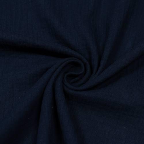 Double gaze bleu marine Oeko-tex