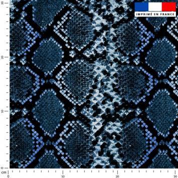 Peau de serpent - Fond bleu