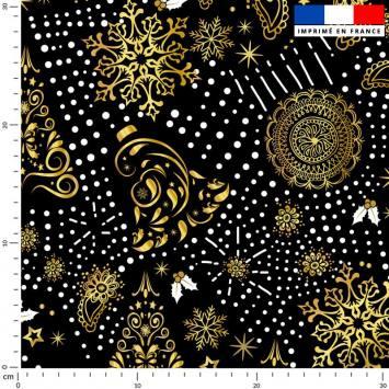 Sapin cachemire gold - Fond noir