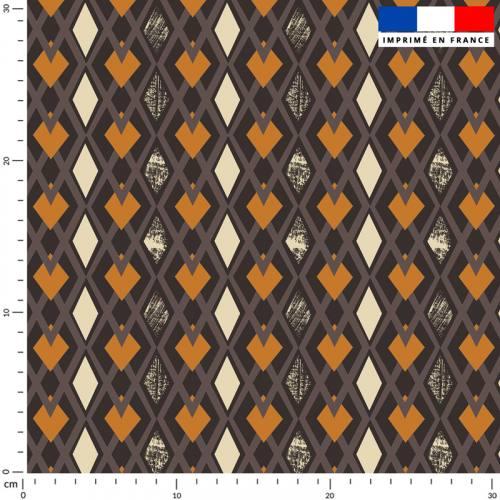 Losange ethnique - Fond marron