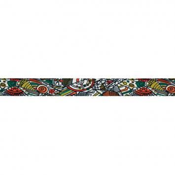 Biais fond blanc motif formes géométriques colorées