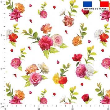 Bouquet de roses - Fond blanc
