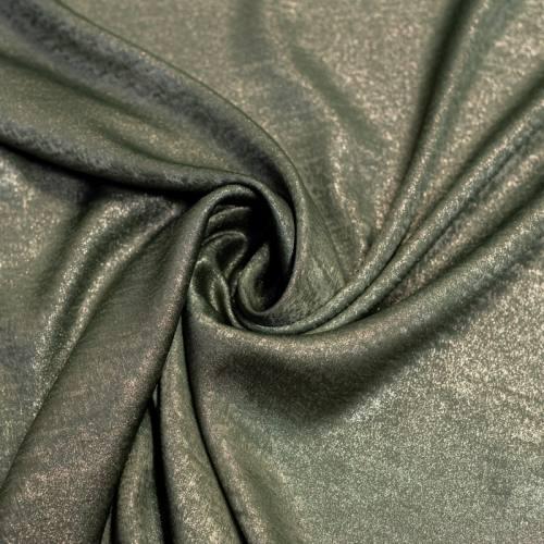 Tissu microfibre vert nacré et brillant