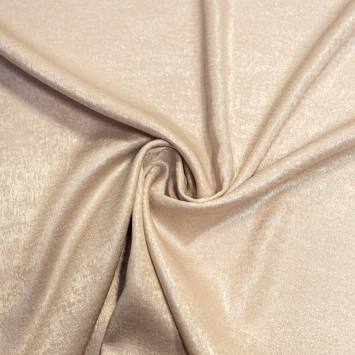 Tissu microfibre nude nacré et brillant