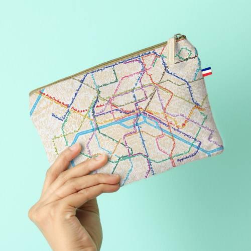 Kit pochette motif métro - Création Lou Picault