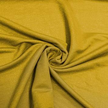 Tissu viscose brillant jaune