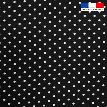 Tissu viscose noir motif pois blanc Oeko-tex
