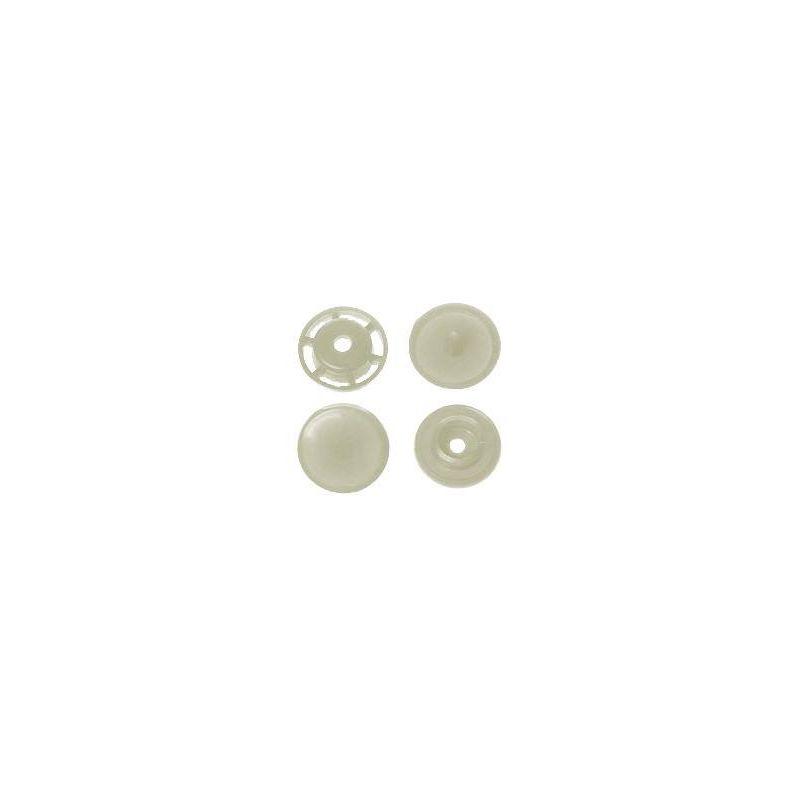 Boite de boutons-pression ronds en résine Color snaps beige