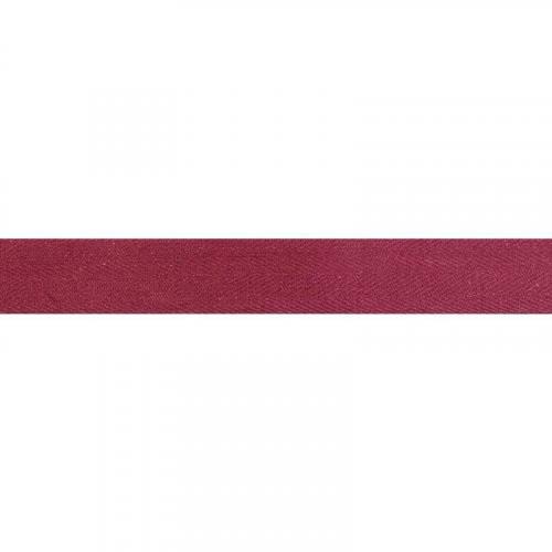 Ruban sergé rouge amarante 25 mm