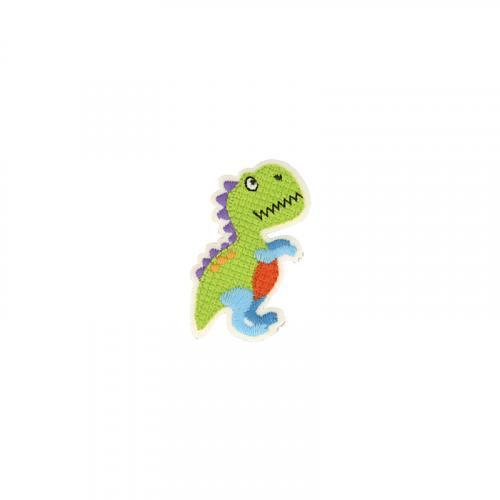 Ecusson brodé thermocollant dinosaure vert