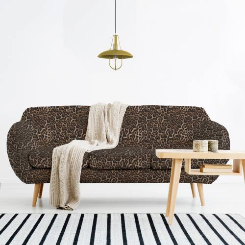 Imitation fourrure léopard - Fond marron