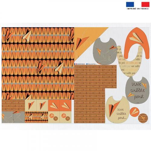 Coupon éponge kit puériculture avion de papier - Création Marie-Eva