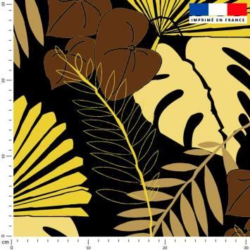 Palme exotique sable - Fond noir - Création Marie-Eva