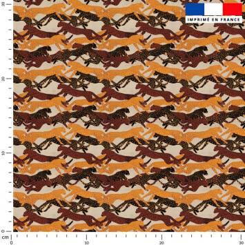 Camouflage léopard - Fond beige