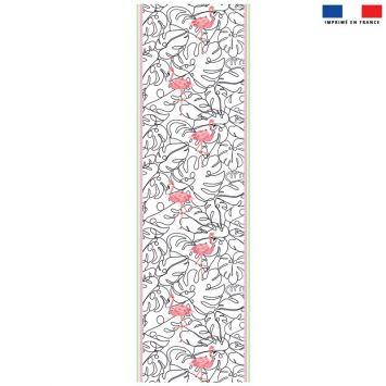 Coupon 45x150 cm tissu imperméable motif flamant rose pour transat