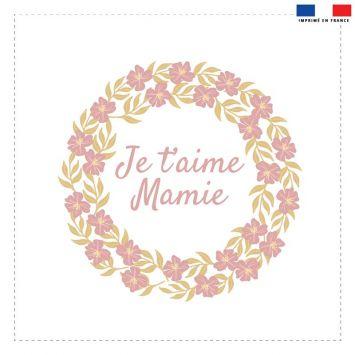 Coupon 45x45 cm motif je t'aime mamie