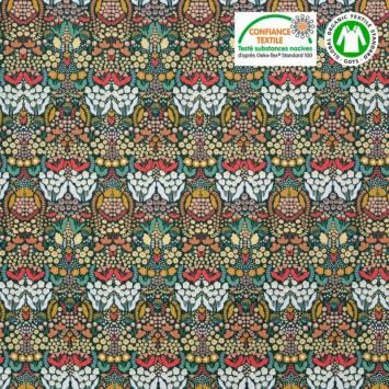 Coton bio imprimé toutes petites fleurs des champs Oeko-tex
