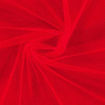 Tulle couleur rouge pour robe de mariée grande largeur