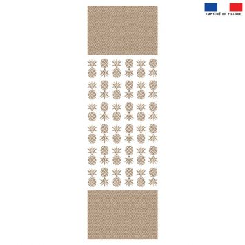 Coupon 45x150 cm tissu imperméable motif ananas effet rotin pour transat