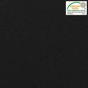 Tissu tubulaire bord-côte noir ardoise